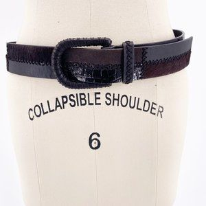 WCM NY LEATHER COWHIDE EMBOSSED TONE BELT~M